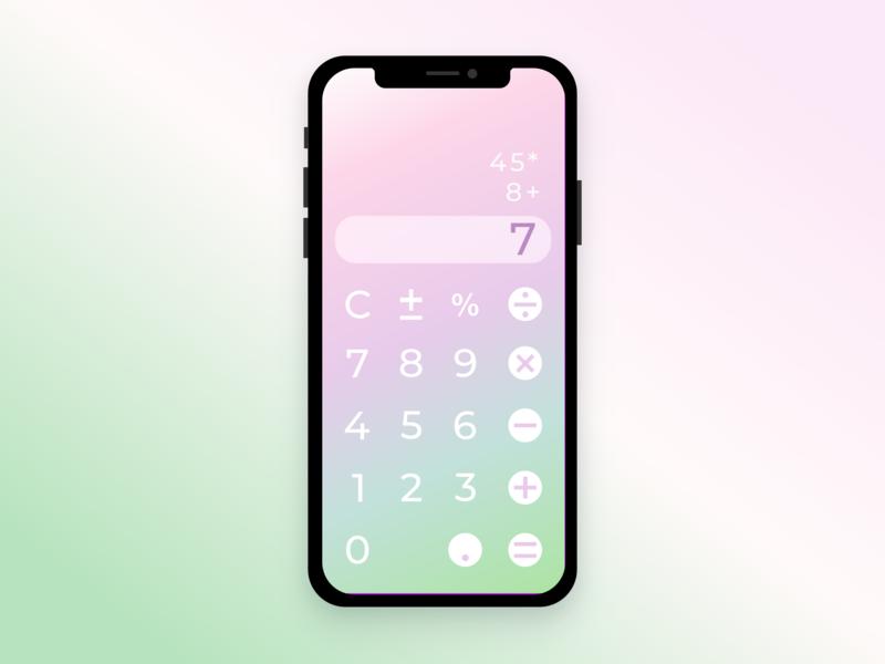Daily UI Challenge 004 - Calculator vector dailyui 004 design ui