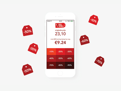 Hoeveelkorting App xcode swift dutch discount ui ux app