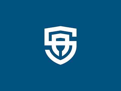SA monogram | Shield sa monogram logo illustrator