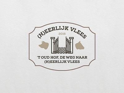 (H)eerlijk Vlees butcher illustrator logo
