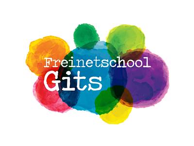 Freinetschool Gits school onderwijs logo illustrator