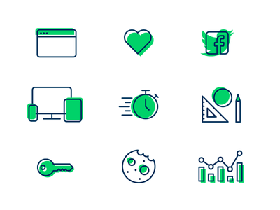 Icons Overview icons vector illustrator