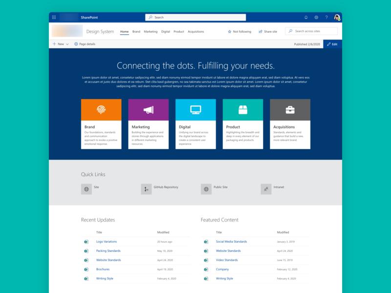 SharePoint Design System web design system sharepoint ux adobe experience design ui