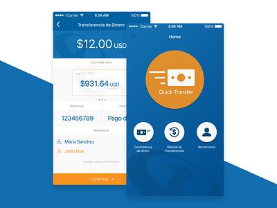 Money Transfer adobe experience design app design ui ux