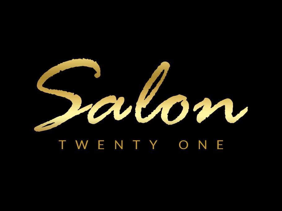 Salon Twenty One logo design process creative logos typography logo salon logo text logo logo design