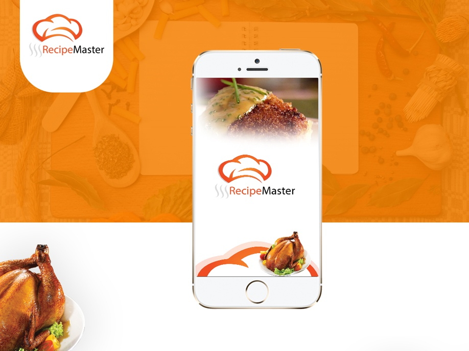 Recipe Master UI Design mobile app development mobile app design creative app food app uxdesign uidesign mobile app