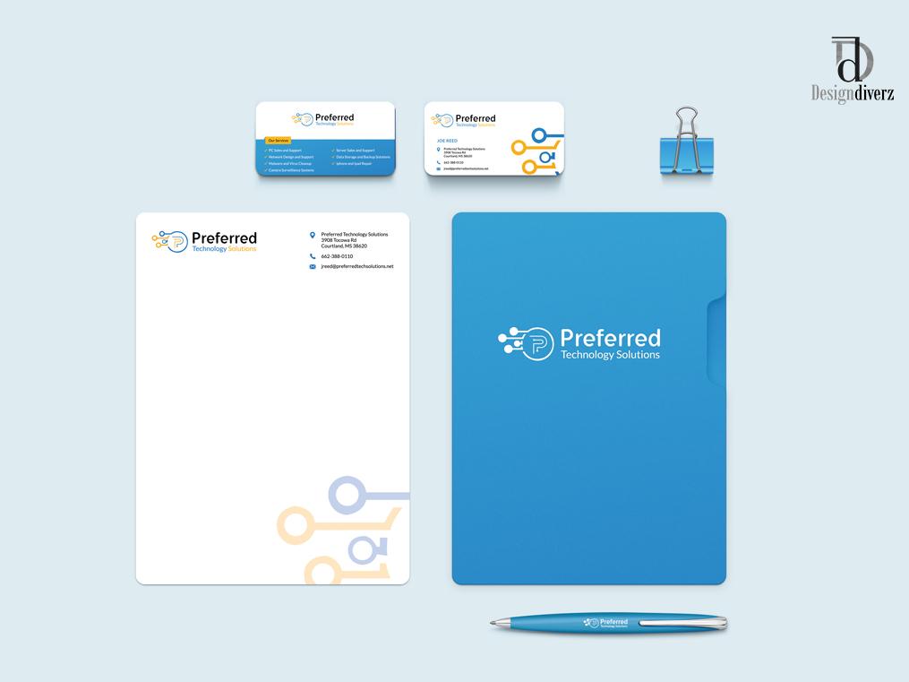 Preferred Technology Solutions Branding brand assets brand agency brand and identity brand identity creative graphic design logo graphic  design branding design branding