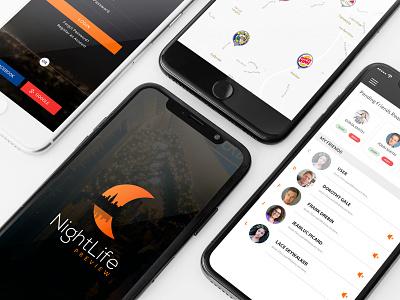 NightLife Preview App Design ios app iphone app photosop cs6 adobe xd app designer mobile app design app design app ux design ui design ui-designer
