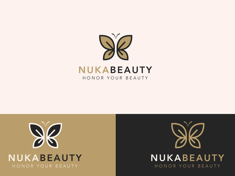 Nuka Beauty Logo best designer graphics designer logo maker logo designer logo alphabet salons brand and identity brand logo logo a day salon logo beauty logo graphics creative logo minimalist minimal logo minimal graphic design logo design