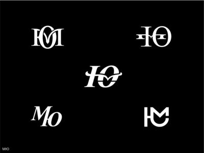Monogram МЮ illustration design vector typography monogram logo branding