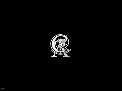 Monogram CA illustration design vector typography logo branding monogram