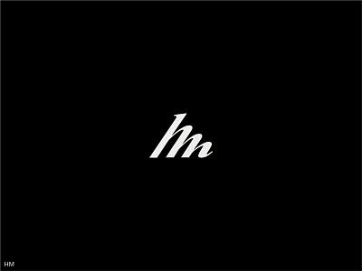 Monogram HM vector typography logo monogram branding