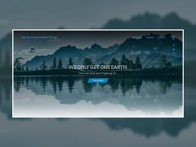Nature Conservation Group Landing Page Concept website web ux ui landing page branding web design design