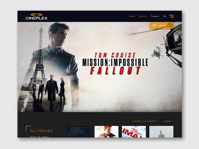 Cineplex Redesign imagery layout branding web design web ux ui landing page design