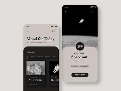 Mood Catalog landingpage mobile app design mobile ui mood app design ui