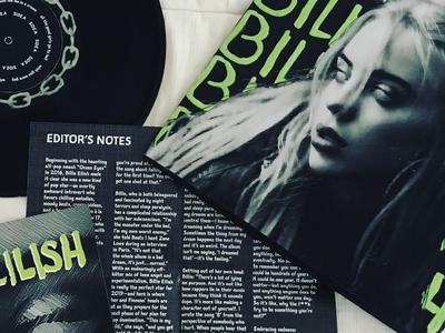 billie eilish vinyl record album art