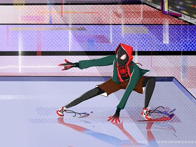 Spider-Man: Into the Spider-Verse graphic illustration marvelapp procreate fanart marvel spiderman spider-man