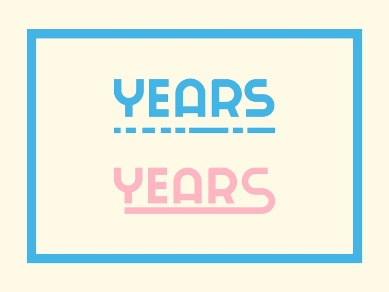 Years vector illustration beautiful fashion apparel culture years time web minimal lettering branding design typogaphy flat logo