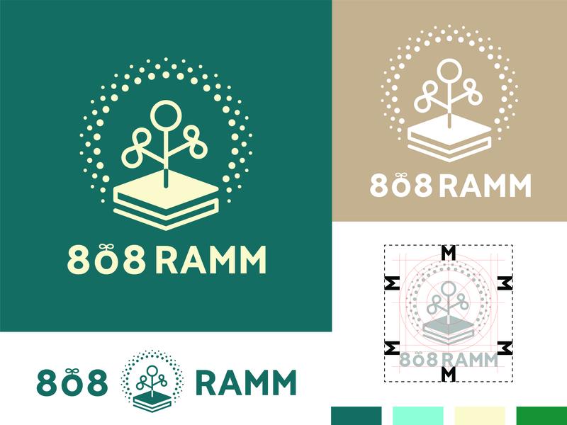 Logo - Indoor farming system green farming website flat vector identity icon beautiful web typography lettering logo branding design
