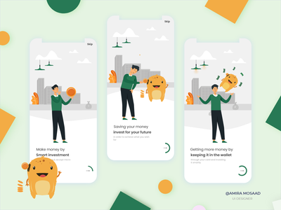 Investment App ui design ui  ux onboarding screen onboarding mobile app mobile design mobile ui uxdesign uiux uidesign ui illustration application design app design app