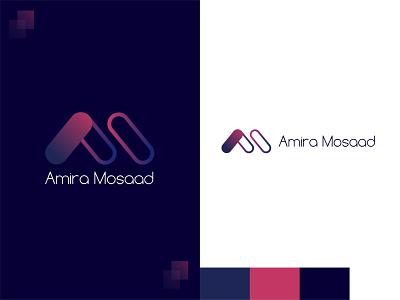 Amira Mosaad logo application ux uxdesign logodesigner design brand design branding logodesign app design app mobile ui uiux ui uidesign illustration vector logo
