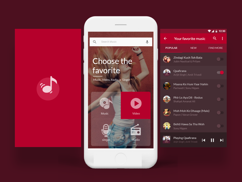 Music App for Android by Arif H  Mahmud on Dribbble