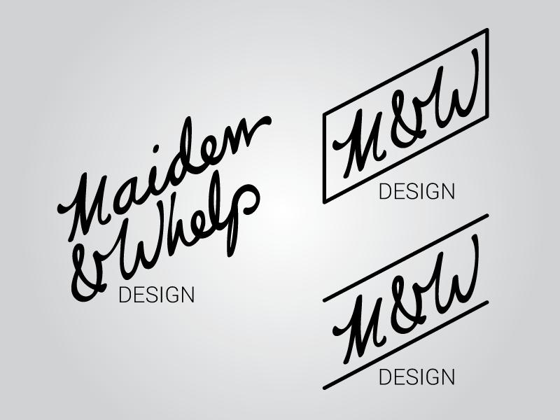 New Maiden & Whelp Logo design logo wip