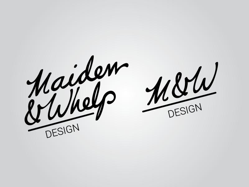 Maiden & Whelp Edit script logo design