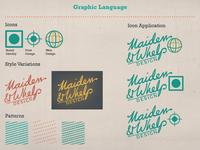 Maiden & Whelp Graphic Language