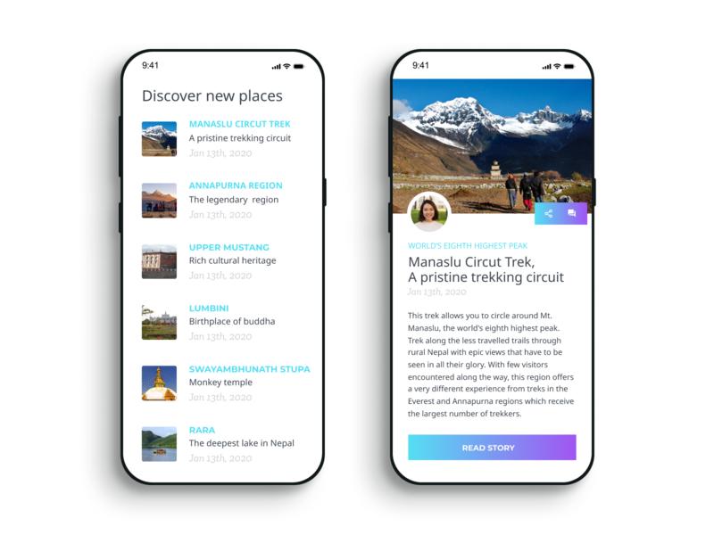 Travel App mobile uichallenge travel
