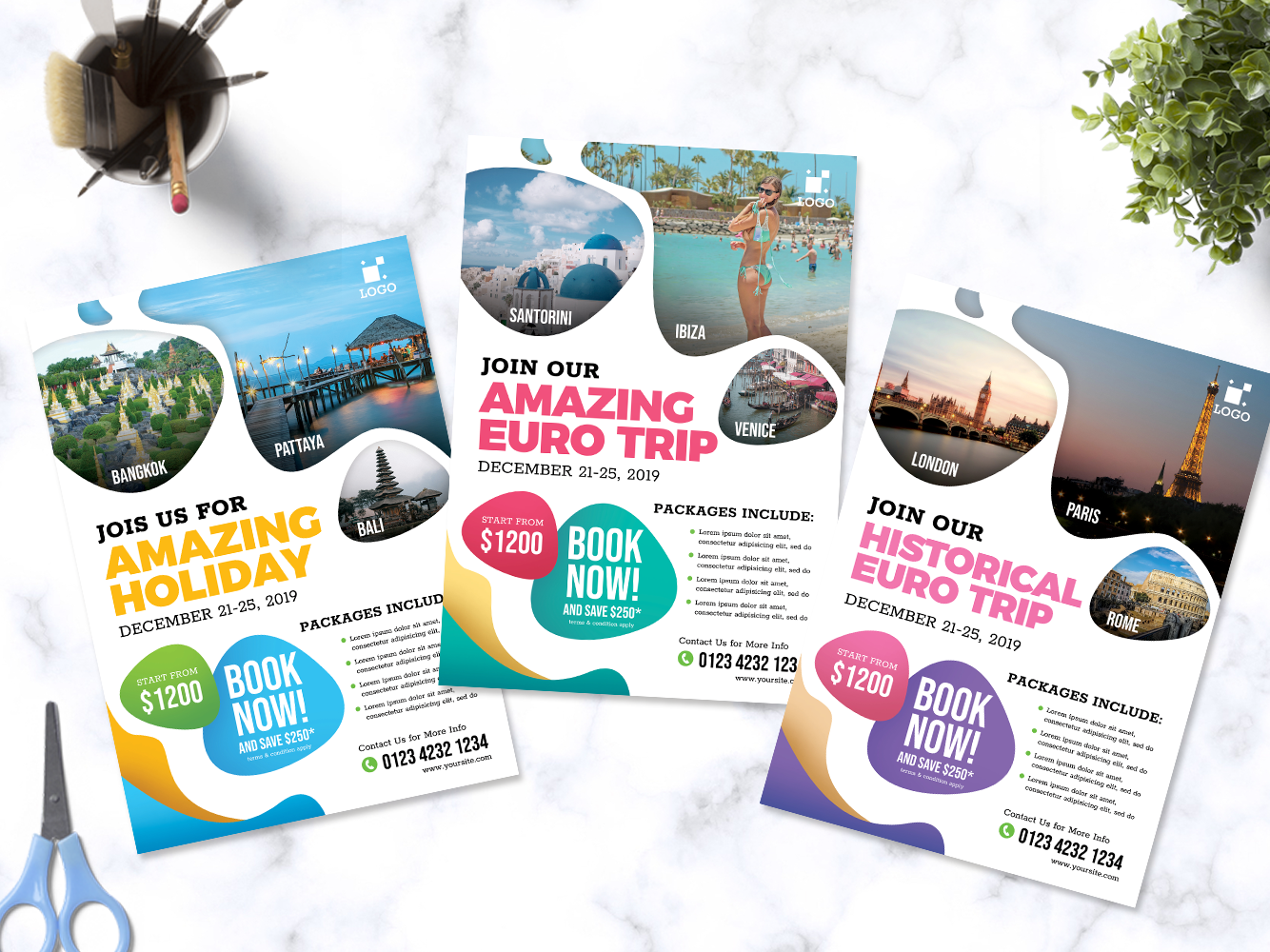 dribbble travel vacation flyer dribbble preview png by farid kardana