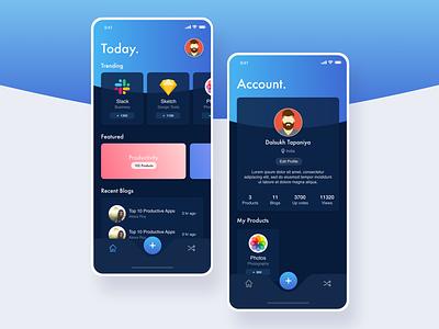Product Release/Launch/Store Concept dribbble mobileapp sketch clean app design app store app design ui  ux design ui adobe xd