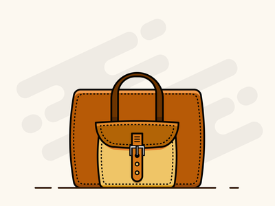 Office Bag 1.0 illustration design minimal clean office bag bag flat illustration