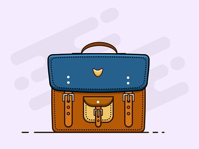 Office Bag 2.0 minimal clean flat illustration bag office bag