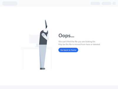 404 - File Not Found Page for Myscout character product flyer ui myscout minimal illustration clean 404 error page 404