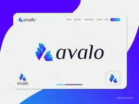Abstract A letter logo design for avalo