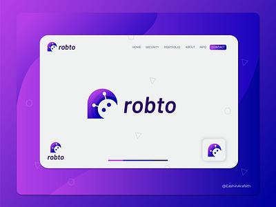 Logo Design for robto robots roboto slab robot illustration free robot logo symbol logos robot logo concept abstract modern technology agency modern logo creative logo app logo designer branding design logo mark roboto robot