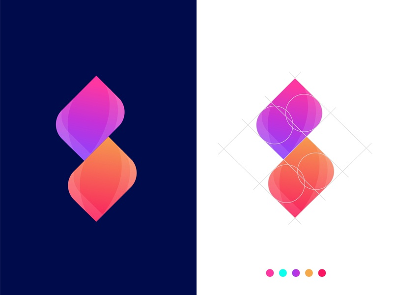 S letter logo deign concept for Seryxo s mark s letter s symbol monogram modern marketing logo mark letter logo letter design gradient designer abstract design creative logo concept branding arrow logo app icon abstract art abstract