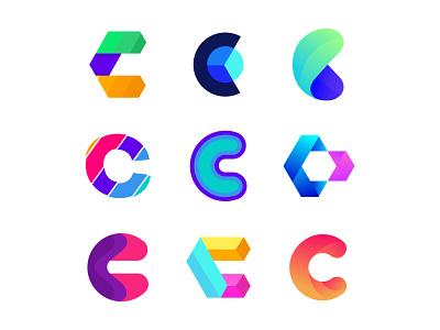 Alphabet Logo Design । C letter logo design typography modern mobail logotype logo mark logo designer logo letter logo illustration gradient design creative logo colorful logo branding design branding brand identity c logo c letter alphabet logo agency