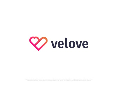 (V+Love icon) Logo Design for velove logotype modern logo v love love logo v latter logo v logo logo mark logodesigns logodesign letter logo lettering logo identity business branding design branding agency branding brand and identity app logo app icon agency