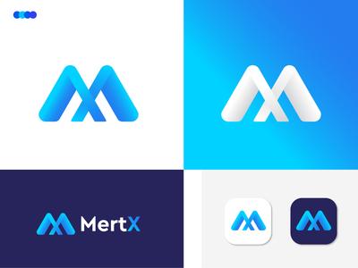 (M+X) Letter Logo Design for MertX m logo m x logo x modern logo minimal logotype logo mark logodesigns letter logo lettering logo identity business branding design branding agency branding brand and identity app logo app icon agency
