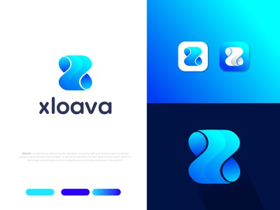 X letter logo design for concept Xloava (unused) z logo x letter logo x modern logo minimal logotype logo mark logodesigns logodesign letter logo lettering logo identity business branding design branding agency branding brand and identity app logo app icon agency