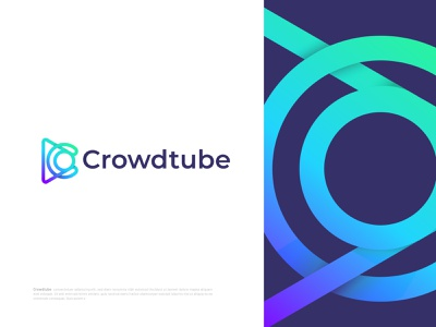 Modern (C+Play icon) letter Logo for Crowdtube modern media player media logo logotype logo mark logo designer letter logo letter design gradient c mark c letter c designer creative logo concept branding design branding app icon abstract art abstract
