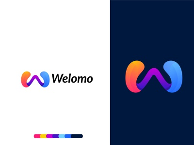 W letter logo design concept for  Welomo modern design modern logo minimal logotype logo mark logodesigns letter logo lettering logo business identity branding design agency branding brand and identity w letter logo w mark w logo w app logo app icon branding agency