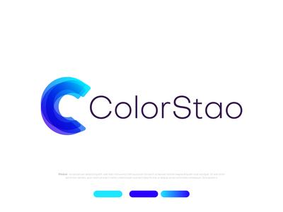 Colorful C Logo - Moden C logo ColorStao identity designer branding design brand modern logos modern calligraphy modern design agency logo designer illustration creative logo brand identity letter logo logo mark branding illustraion design art abstract logo colorful logo modern logo