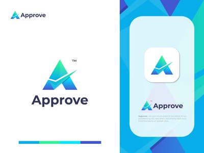 Modern A letter logo design for Approve agency branding creative logo gradient a logo a letter logo modern logo logotype logo mark logo design letter logo lettering logo identity business branding design branding agency branding brand and identity app logo app icon agency
