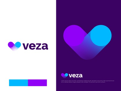Modern V letter logo for veza v letter mark logo logotype logo designer app icon logo modern logo branding brand identity abstract mark symbol meaningful logo logo agency logo design branding flame burn campfire hot digital technology gradient monogram monograms pages website minimalistic icons overlay overlapping vector flat design illustration website 3d clean logo redesign
