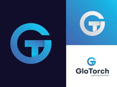 GloTorch ( G+T) logo design