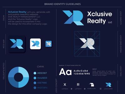 Xclusive Realty Branding Logo Design