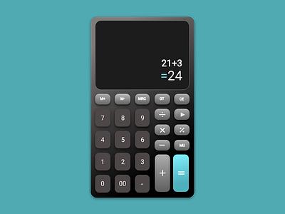 Daily challenge 004- Calculator challenge4 daily 100 challenge uidesign dailyui
